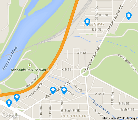 map of Greenway apartments for rent