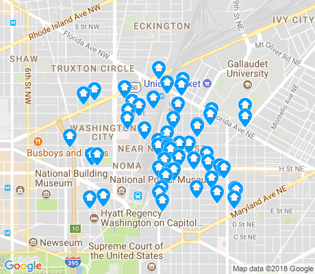 map of H Street-NoMa apartments for rent