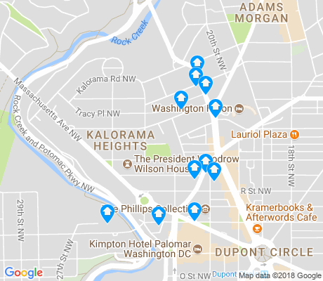 Adams Morgan Dc Map.Kalorama Washington D C Apartments For Rent And Rentals Walk Score