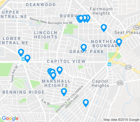 map of Marshall Heights - Lincoln Heights apartments for rent