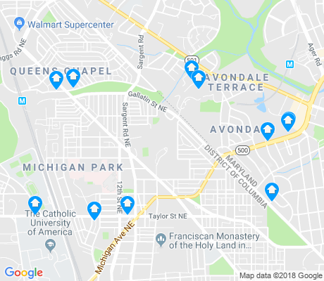 map of Michigan Park apartments for rent