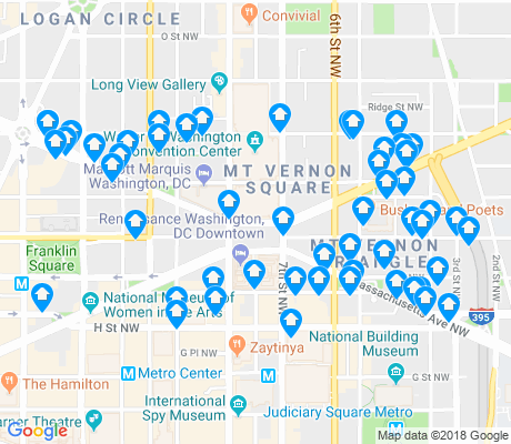 map of Mount Vernon Square apartments for rent