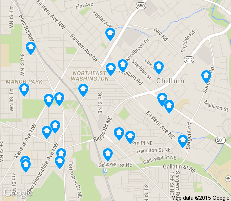 map of Riggs Park apartments for rent