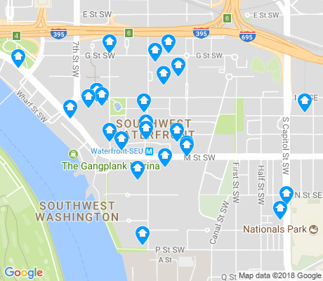 map of Southwest - Waterfront apartments for rent