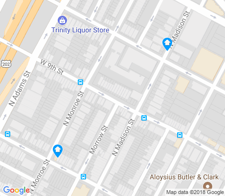 map of West Center City apartments for rent