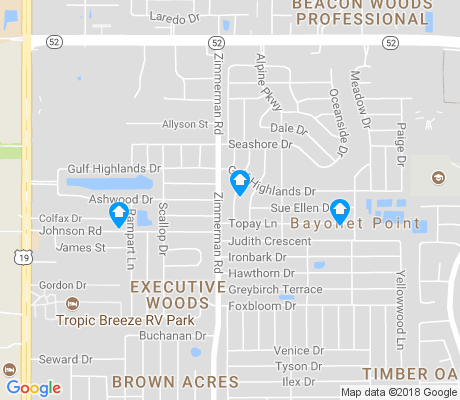 map of Gulf Highlands apartments for rent