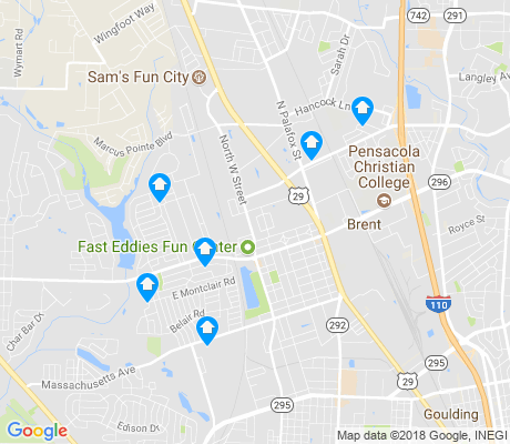 map of Brent apartments for rent