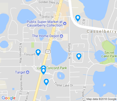 map of Casselberry apartments for rent