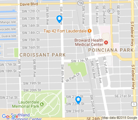 map of Croissant Park apartments for rent