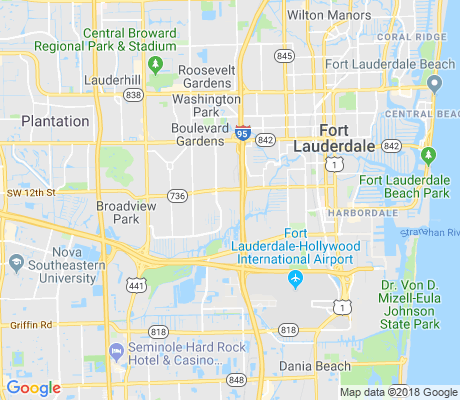 map of Flamingo Park apartments for rent