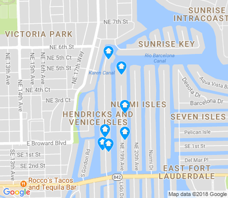 map of Hendricks and Venice Isles apartments for rent