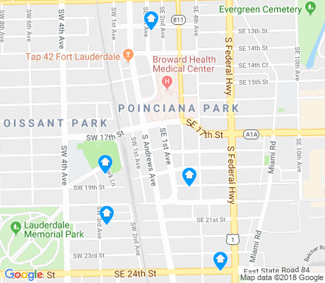 map of Poinciana Park apartments for rent