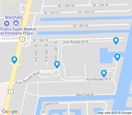 map of Port Royale apartments for rent
