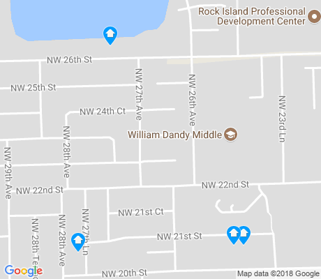map of Rock Island apartments for rent