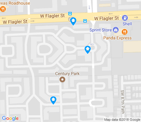 map of Century Park apartments for rent