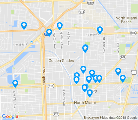 map of Golden Glades apartments for rent