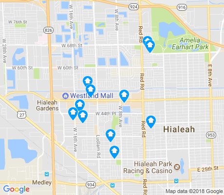 map of 33012 apartments for rent