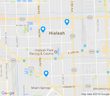 map of Hialeah Acres apartments for rent