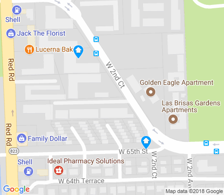 map of Palm Springs apartments for rent