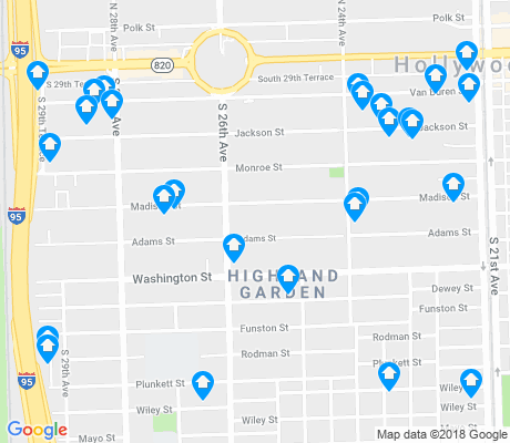 map of Highland Garden apartments for rent