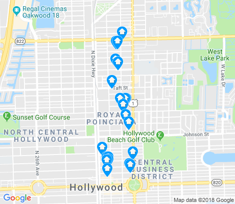 map of Royal Poinciana apartments for rent