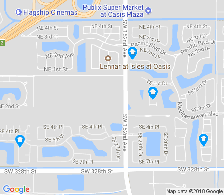 map of Oasis apartments for rent