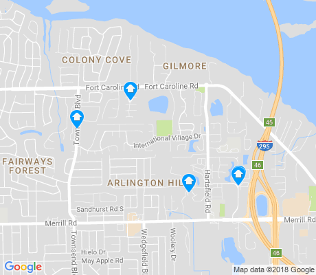 map of Arlington Hills apartments for rent