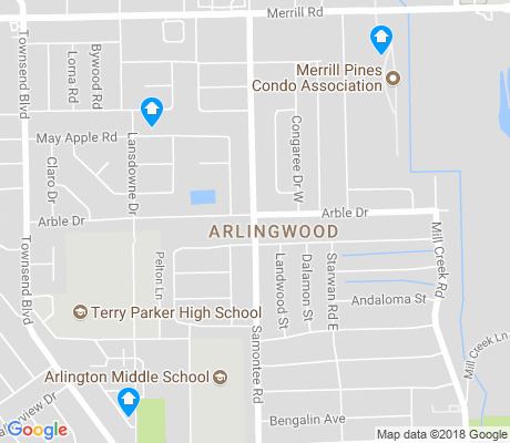 map of Arlingwood apartments for rent