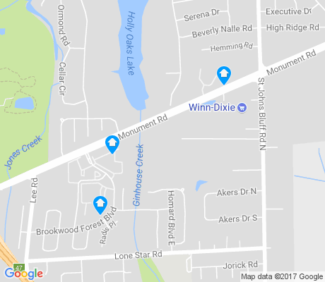 map of Atlantic Boulevard Estates apartments for rent