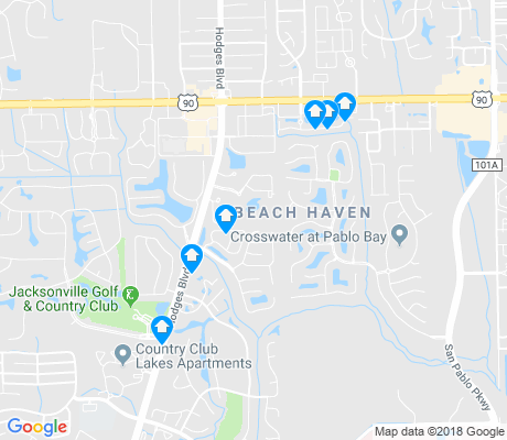 map of Beach Haven apartments for rent