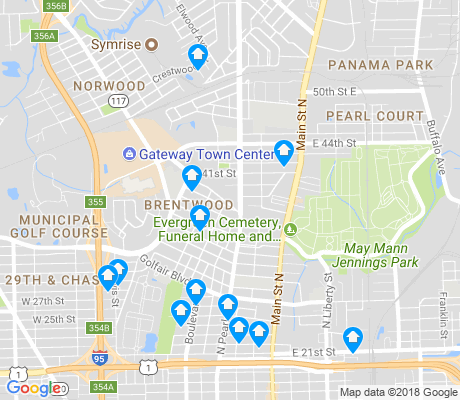 map of Brentwood apartments for rent
