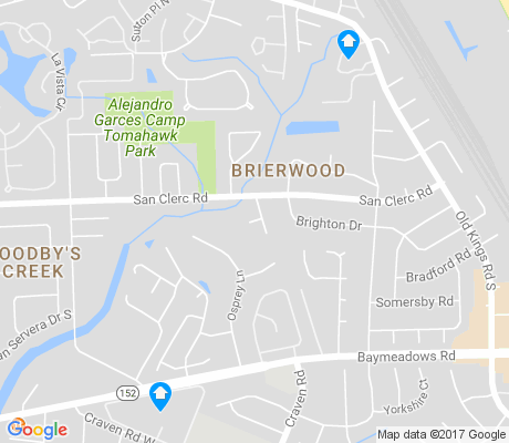 map of Brierwood apartments for rent