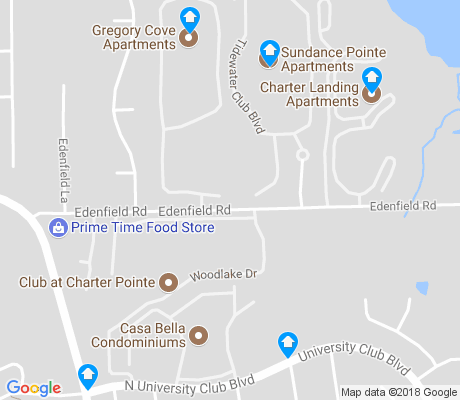 map of Charter Point apartments for rent