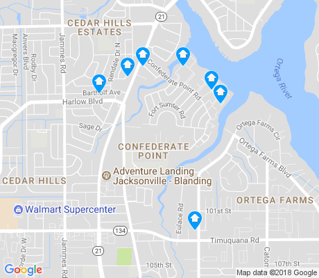 map of Confederate Point apartments for rent