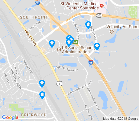 map of Deerwood Center apartments for rent