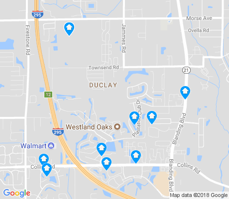 map of Duclay apartments for rent