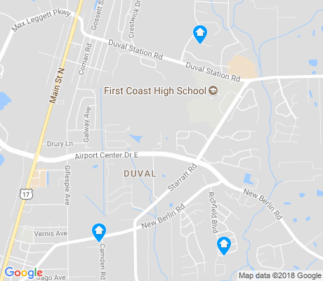 map of Duval apartments for rent