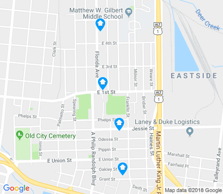 map of East Jacksonville apartments for rent