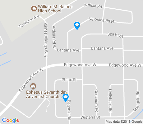 map of Edgewood Manor apartments for rent