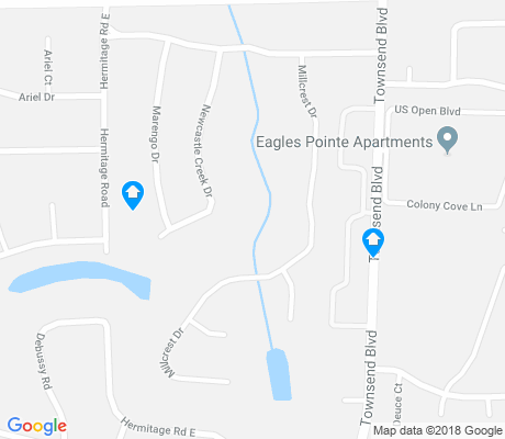 map of Fairways Forest apartments for rent