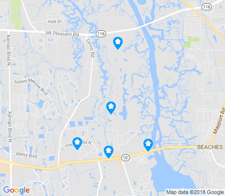 map of Girvin apartments for rent