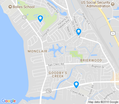 map of Goodby's Creek apartments for rent