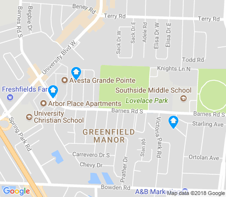 map of Greenfield Manor apartments for rent