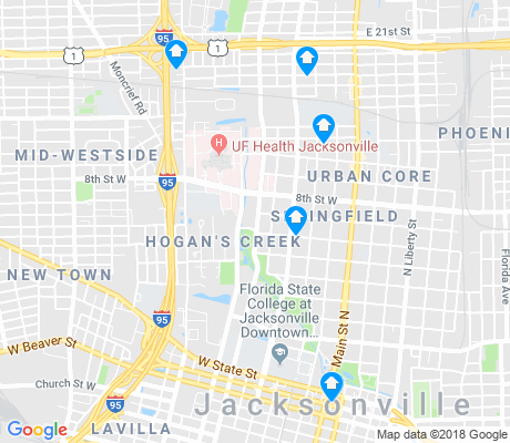 map of Hogan's Creek apartments for rent