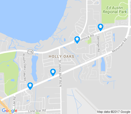 map of Holly Oaks apartments for rent