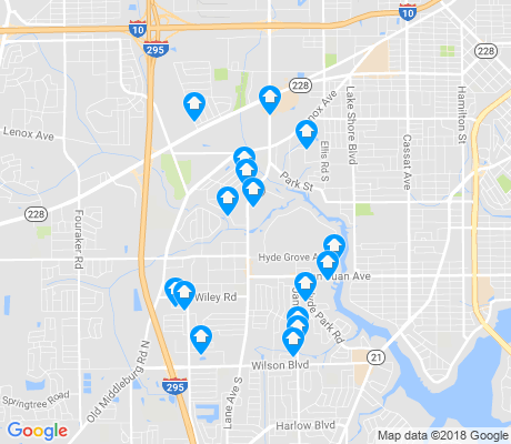 map of Hyde Park apartments for rent