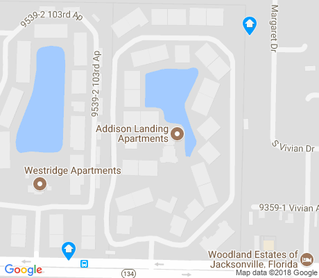 map of Jacksonville Heights West apartments for rent