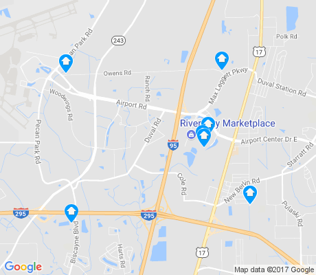 map of Jacksonville North Estates apartments for rent