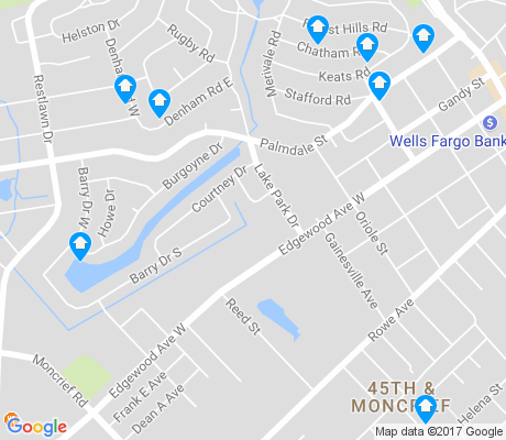 map of Lake Forest Hills apartments for rent