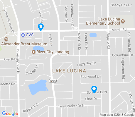 map of Lake Lucina apartments for rent